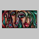 ieftine Picturi în Ulei-mintura® vopsea de mărime mare pictată cu pictura abstractă sexy fata de ulei pe pânză moderne de artă de perete pentru decorațiuni interioare fără cadru