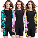 cheap Synthetic Capless Wigs-SBART Women's Rash Guard Dive Skin Suit Quick Dry, Wearable, Breathable Nylon Long Sleeve Swimwear Beach Wear Patchwork Front Zip Diving / Watersports / High Elasticity