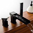 abordables Grifos de Bañera-Grifo de bañera - Arte Decorativa / Retro Tradicional Bronce Aceitado Muy Difundido Válvula Cerámica