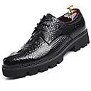 זול נעלי בד ומוקסינים לגברים-בגדי ריקוד גברים נעליים פורמליות עור נאפה Leather אביב נעלי אוקספורד שחור
