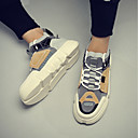 tanie Adidasy męskie-Męskie Komfortowe buty Skóra bydlęca Jesień i zima Adidasy Biały / Beżowy / Tęczowy / Na zewnątrz