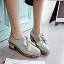 povoljno Ženske cipele bez vezica-Žene Cipele PU Ljeto Udobne cipele Oksfordice Kockasta potpetica Okrugli Toe Crn / Sive boje / Pink