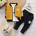ieftine Set Îmbrăcăminte Băieți Bebeluși-Bebelus Băieți Panda Jacquard Manșon Lung Set Îmbrăcăminte