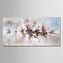 tanie Pejzaże-Hang-Malowane obraz olejny Ręcznie malowane - Kwiatowy / Roślinny Nowoczesny Płótno / Zwijane płótno