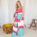 ieftine Set Îmbrăcăminte De Familie-Copii / Copil Mama și cu mine De Bază / Dulce Ieșire Floral / Bloc Culoare Peteci Fără manșon Maxi Maxi Salopetă