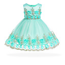 cheap Girls' Dresses-Baby Girls' Vintage Going out Floral Sleeveless Knee-length Cotton Dress