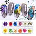 billige LED-lyspærer-12 pcs Negle Smykker Universell Blomst Neglekunst Manikyr pedikyr Daglig Stilfull / Elegant