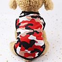 baratos Roupas para Cães-Cachorros / Gatos / Animais Pequenos Peludos Jaquetas Jeans / Jaqueta / Colete Salva-Vidas Roupas para Cães Poá / Geométrica / Estampado Vermelho / Verde / Azul Algodão Ocasiões Especiais Para