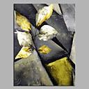 tanie Obrazy olejne-Hang-Malowane obraz olejny Ręcznie malowane - Abstrakcja / Kwiatowy / Roślinny Nowoczesny Płótno / Rozciągnięte płótno