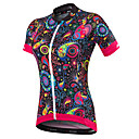 cheap Cycling Jersey & Shorts / Pants Sets-Malciklo Women's Short Sleeve Cycling Jersey - Black British / Floral / Botanical Bike Jersey, Quick Dry, Anatomic Design, Ultraviolet Resistant Spandex, Coolmax® / Breathable / Stretchy / Breathable