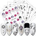billige Negle Sticker-24 pcs Klistermærker Negle kunst Manicure Pedicure Blonde Negle Dekaler Dagligdagstøj / Festival