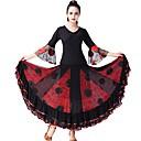 זול הלבשה לריקודים סלוניים-ריקודים סלוניים תלבושות בגדי ריקוד נשים הצגה טול סלסולים / מפרק מפוצל שרוול 4\3 טבעי חצאיות / עליון