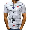 billige Sykkeljerseys-Skjortekrage Polo Herre - Fargeblokk / Bokstaver, Trykt mønster Grunnleggende / Gatemote Sport / Arbeid Hvit XL / Kortermet