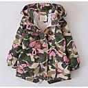 cheap Girls' Jackets & Coats-Kids Girls' Print Long Sleeve Trench Coat