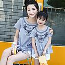 ieftine Set Îmbrăcăminte De Familie-Adulți / Copii Mama și cu mine Dungi Manșon scurt Cămașă