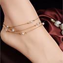 olcso Testékszer-Édesvízi gyöngy Perlice Comblánc Egyszerű, Édes, Elegáns Női Arany Testékszer Kompatibilitás Napi / Alkalmi