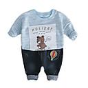 ieftine Pantaloni Băieți-Bebelus Băieți De Bază Dungi Manșon Lung Set Îmbrăcăminte / Copil