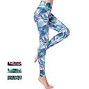 ieftine Îmbrăcăminte de Alergat-Pentru femei Sexy Pantaloni de yoga - Albastru, Verde / Negru, Fucsia Sport Print Floral Spandex Talie Inaltă Dresuri Ciclism Alergat, Fitness, Sală de Fitness Îmbrăcăminte de Sport Uscare rapid