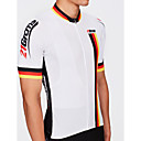 cheap Cycling Jersey & Shorts / Pants Sets-21Grams Men's Short Sleeve Cycling Jersey - White National Flag Champion Bike Jersey Top, Breathable Waterproof Zipper 100% Polyester