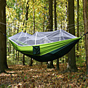 cheap Camping Tools, Carabiners & Ropes-Camping Hammock with Mosquito Net Outdoor Portable, Moistureproof, Well-ventilated Spinning Cotton for Camping / Hiking / Hunting / Hiking