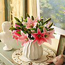 cheap Artificial Flower-Artificial Flowers 5 Branch Classic / Single Stylish / Pastoral Style Lilies Tabletop Flower