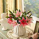 ieftine Flor Artificiales-Flori artificiale 5 ramură Clasic / Single Stilat / Pastoral Stil Crini Față de masă flori