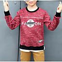 ieftine Seturi Îmbrăcăminte Băieți-Copii Băieți De Bază Geometric Manșon Lung Bumbac / Spandex Hanorac Albastru piscină 130