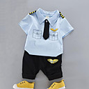 ieftine Set Îmbrăcăminte Băieți Bebeluși-Bebelus Băieți Imprimeu / Peteci Manșon scurt Set Îmbrăcăminte