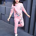 povoljno Haljine za djevojčice-Djeca Djevojčice Aktivan Ulični šik Dnevno Sport Rukav leptir Print Print Dugih rukava Regularna Komplet odjeće Blushing Pink