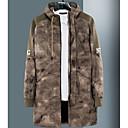 זול מכנסיים ושורטים לגברים-בגדי ריקוד גברים ירוק צבא חאקי XXXL XXXXL XXXXXL מעיל ארוך Military עכשווי עם קפוצ'ון / שרוול ארוך