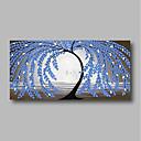 povoljno Apstraktno slikarstvo-Hang oslikana uljanim bojama Ručno oslikana - Sažetak Cvjetni / Botanički Comtemporary Moderna Uključi Unutarnji okvir / Prošireni platno