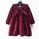 tanie Sukienki dla dziewczynek-Brzdąc Dla dziewczynek Podstawowy Solidne kolory Długi rękaw Sukienka Brązowy 100