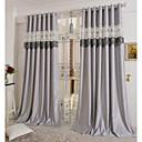 abordables Cortinas-cortinas cortinas Sala de estar Contemporáneo 100% Poliéster Bordado