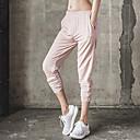 billige Fitness, løbe- og yogatøj-Dame Lomme / Harem Yoga bukser - Sort, Lys pink, Lyseblå Sport Helfarve Underdele Løb, Fitness, Træning Sportstøj Åndbart, Hurtigtørrende, Svedreducerende Mikroelastisk