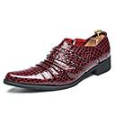 ieftine Oxfords Bărbați-Bărbați Pantofi formali Imitație Piele Toamnă Mocasini & Balerini Negru / Roșu Vin / Mărgele / Nuntă / Party & Seară
