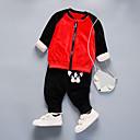 povoljno Hlače za dječake-Djeca Dječaci Aktivan Dnevno / Škola Print Print Dugih rukava Regularna Pamuk / Akril Komplet odjeće Red 130