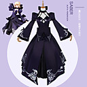 abordables Disfraces de Anime-Inspirado por Fate / Stay Night Saber Lily / Cosplay Animé Disfraces de cosplay Japonés Trajes Cosplay Color sólido / Anime / Flores Botánica Chaqueta / Top / Falda Para Mujer / Para la Cabeza