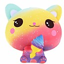 cheap Stress Relievers-Squeeze Toy / Sensory Toy / Stress Reliever Cat / Creative Cute / Stress and Anxiety Relief / Decompression Toys PORON 1 pcs Kids / Adults' All Gift