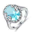 ieftine Cercei-Pentru femei Sintetic Aquamarine Zirconiu Cubic Lung Band Ring - Vintage, Elegant 6 / 7 / 8 / 9 / 10 Albastru Deschis Pentru Nuntă Logodnă Ceremonie