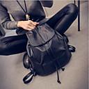 olcso High School Bags-Női Táskák PU hátizsák Cipzár Fekete