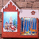 cheap Holiday Party Decorations-Ornaments Holiday Wooden House Shaped Wooden / Novelty Christmas Decoration