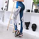 ieftine Îmbrăcăminte de Alergat-Pentru femei Sexy Pantaloni de yoga - Albastru, Albastru / Negru, Alb+Albastru Celest Sport Imprimeu Modal Leggings Alergat, Fitness, A face exerciţii fizice Îmbrăcăminte de Sport Compresie / Strech