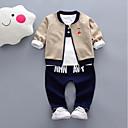 ieftine Baby Boys' One-Piece-Bebelus Băieți De Bază Imprimeu Manșon Lung Set Îmbrăcăminte / Copil