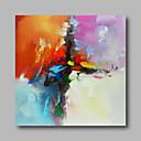 olcso Képek-Hang festett olajfestmény Kézzel festett - Absztrakt Kortárs / Modern Vászon