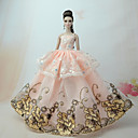 cheap Rhinestone & Decorations-Dresses Dress For Barbie Doll Orange Tulle / Lace / Silk / Cotton Blend Dress For Girl's Doll Toy