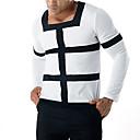 billige Mote Halskjede-T-skjorte Herre - Fargeblokk Grunnleggende / Punk & Gotisk
