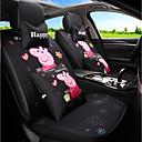 זול כיסויי למושבים לרכב-ODEER כיסויי למושבים לרכב כיסויים שחור טֶקסטִיל סרט מצוייר / נפוץ עבור אוניברסלי כל השנים כל הדגמים