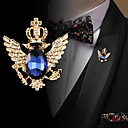 cheap Brooches-Men's Cubic Zirconia Retro / Stylish Brooches - Fashion, Elegant, British Brooch Jewelry Black / Blue For Wedding / Holiday