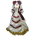 cheap Historical & Vintage Costumes-Princess Rococo Renaissance 18th Century Costume Women's Dress Party Costume Masquerade Ball Gown Red and White / Red+Golden / Fuschia Vintage Cosplay Half Sleeve Puff / Balloon Sleeve Floor Length
