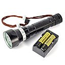 cheap Synthetic Capless Wigs-LED Flashlights / Torch / Diving Flashlights / Torch / Handheld Flashlights / Torch LED 8000 lm 1 Mode Waterproof / Super Light Camping / Hiking / Caving / Diving / Boating / Hunting